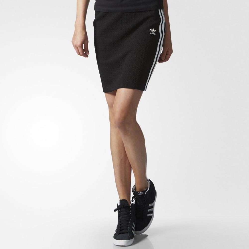 e990f5387b4fe Adidas Originals 3 Stripes Skirt Deluxe - Womens Clothing from ...