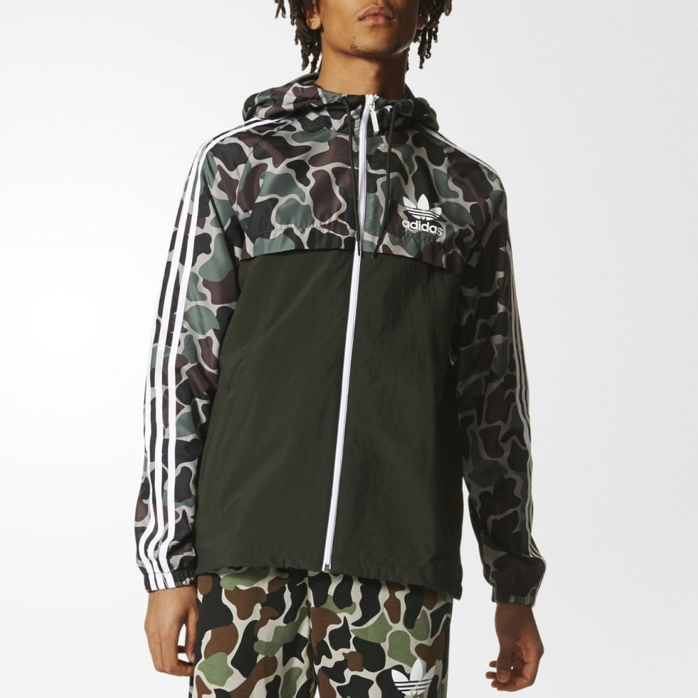 07879cef4de688 Adidas Originals Camouflage Rev Windbreaker - Mens Clothing from Cooshti.com
