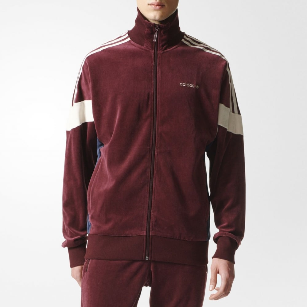 look for best authentic half price Adidas Originals Challenger 84 Velour Track Jacket
