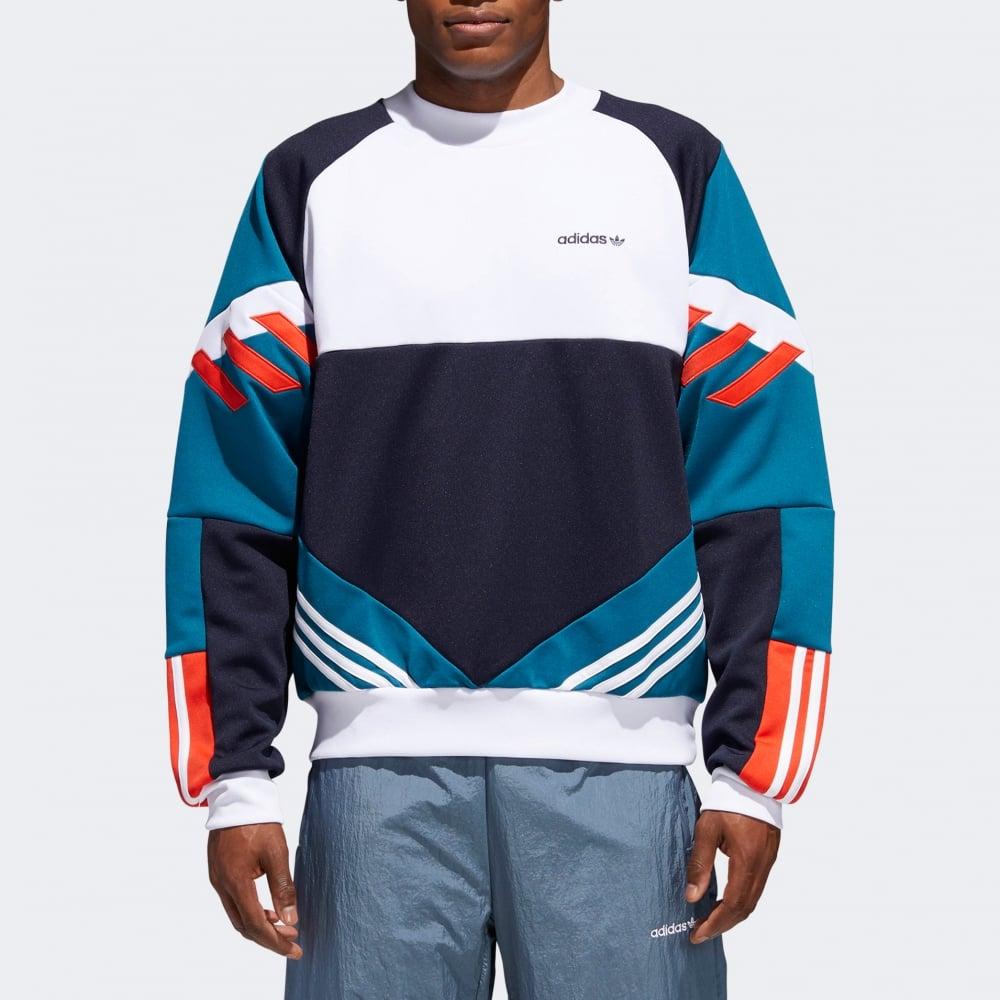 Adidas Originals Chop Shop Crew Sweatshirt - Mens Clothing from ... 9dfb709b264