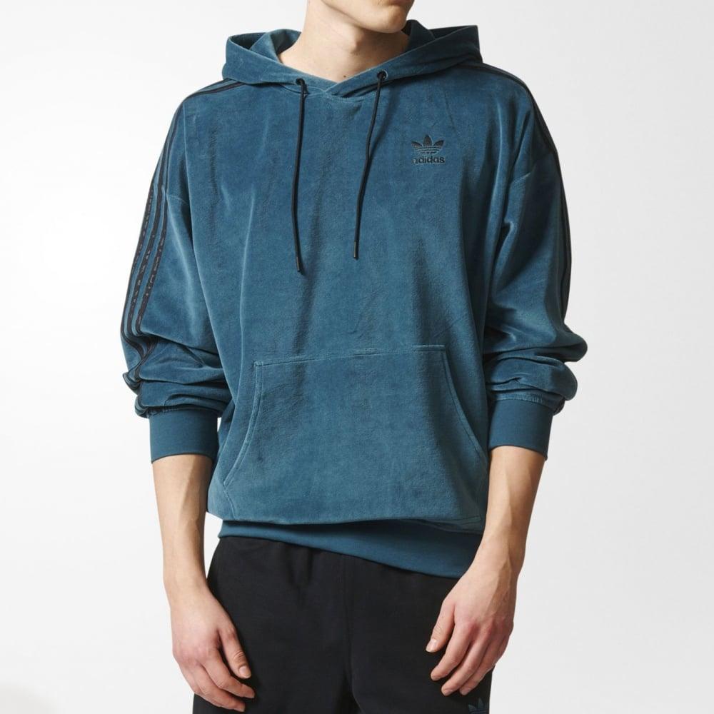 adidas originals ornamental block velour hoodie mens. Black Bedroom Furniture Sets. Home Design Ideas
