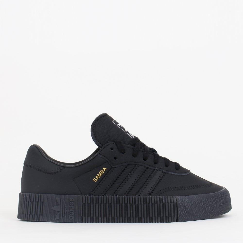 26c6ee570e5 Adidas Originals Sambarose Women s - Triple Black - Womens Footwear ...