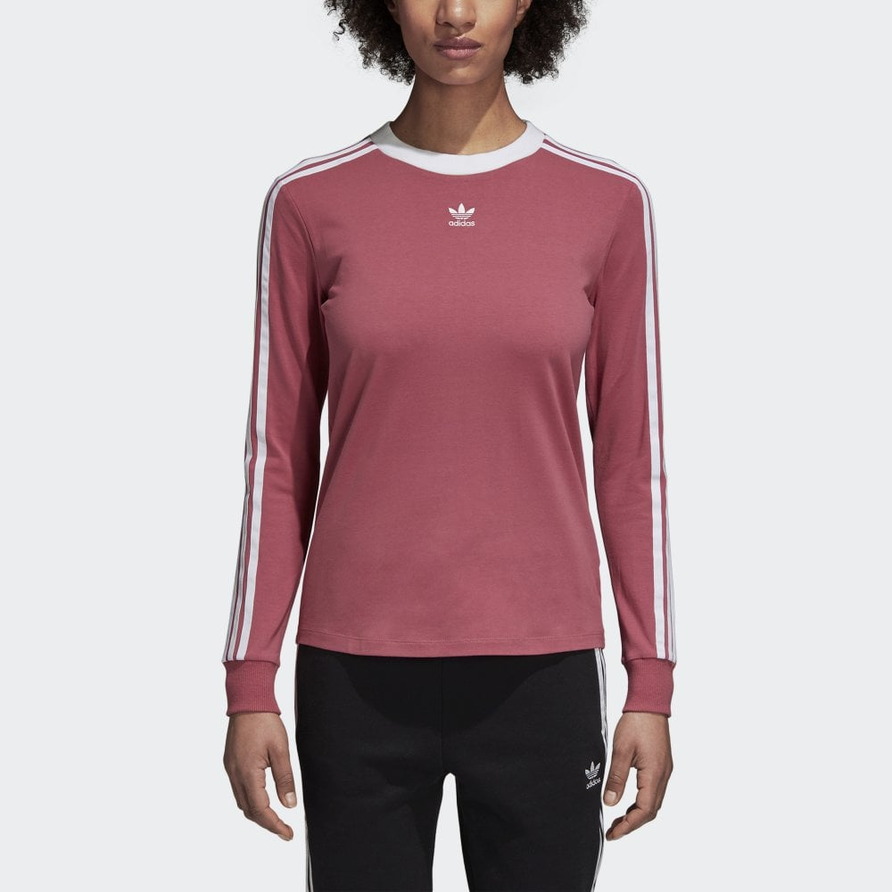 0039f91d9 Adidas Originals Women's 3-Stripe Long Sleeved Tee - Womens Clothing from  Cooshti.com