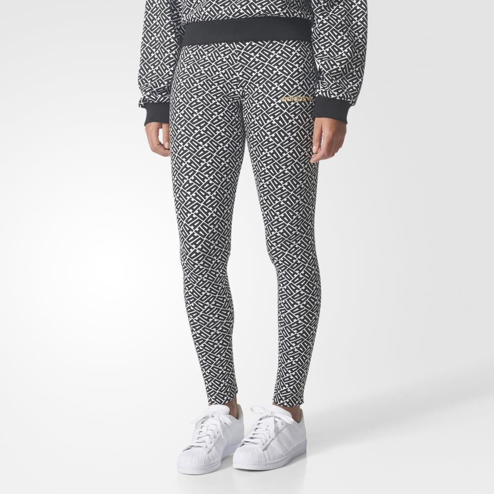 6c60ce20871340 Adidas Originals Womens Allover Print Leggings - Womens Clothing from  Cooshti.com