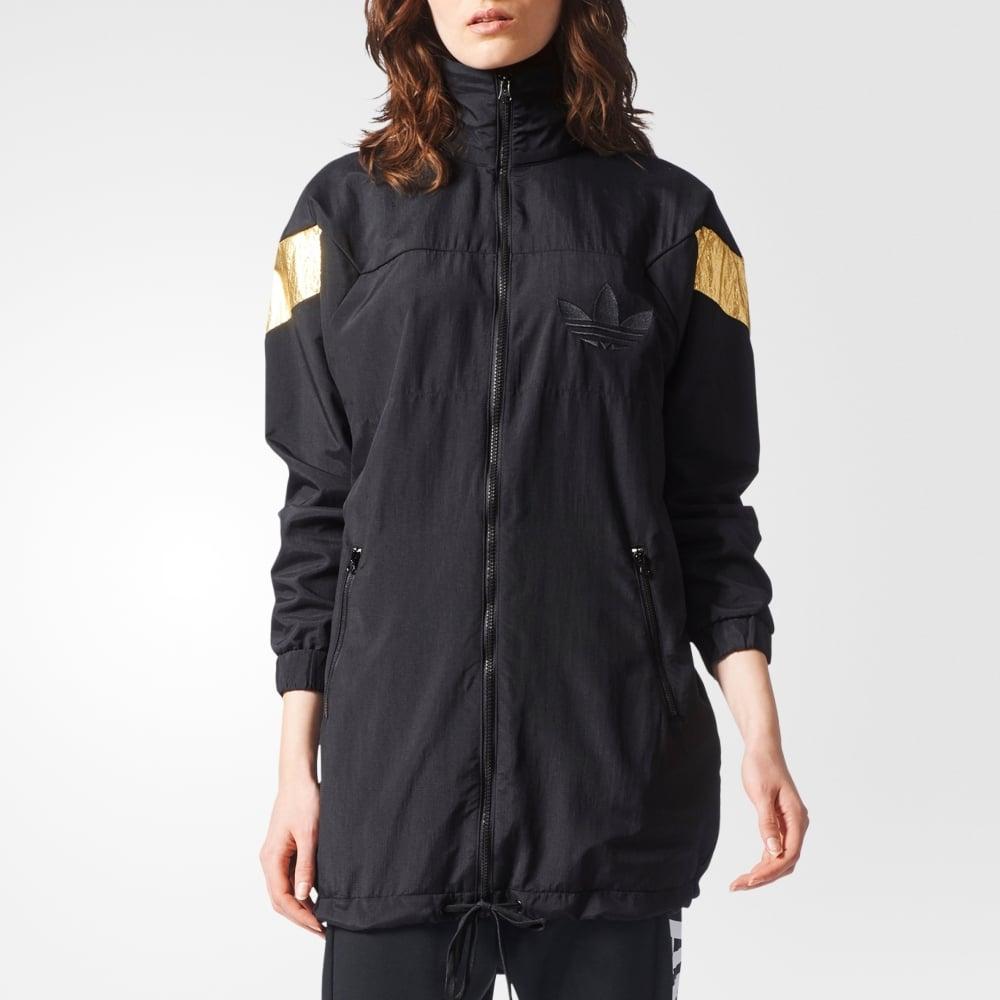 Adidas Originals  mujer archivo Long Track Jacket  mujer Clothing