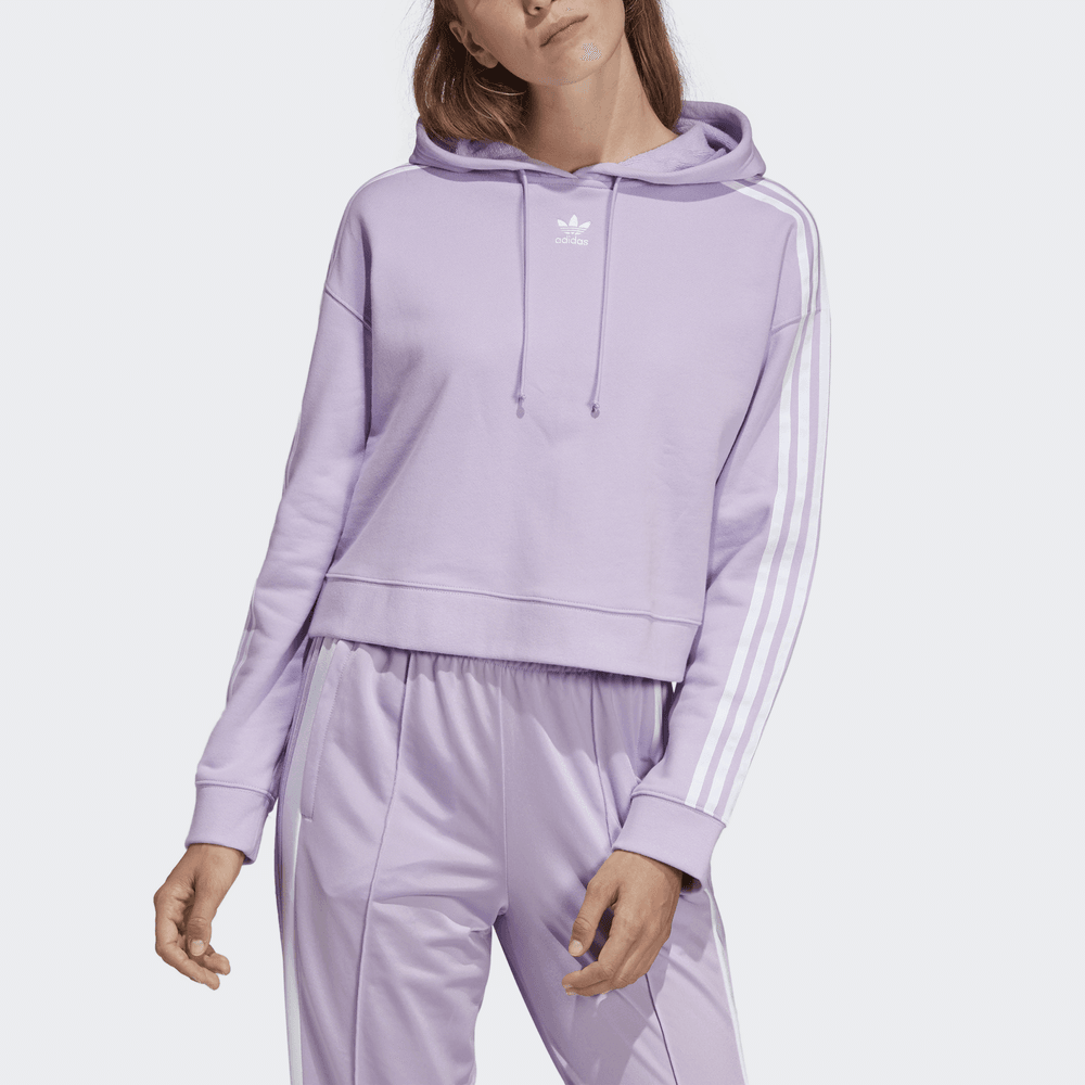 d82d052b6245bf Adidas Originals Women s Cropped Hoodie - Womens Clothing from ...
