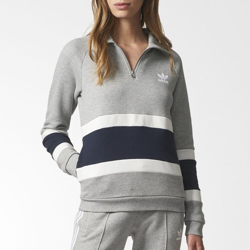 adidas originals womens half zip sweater womens clothing. Black Bedroom Furniture Sets. Home Design Ideas