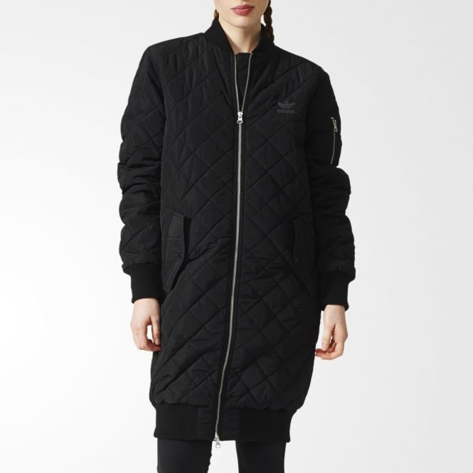 Adidas Originals Womens Long Quilted Bomber Womens