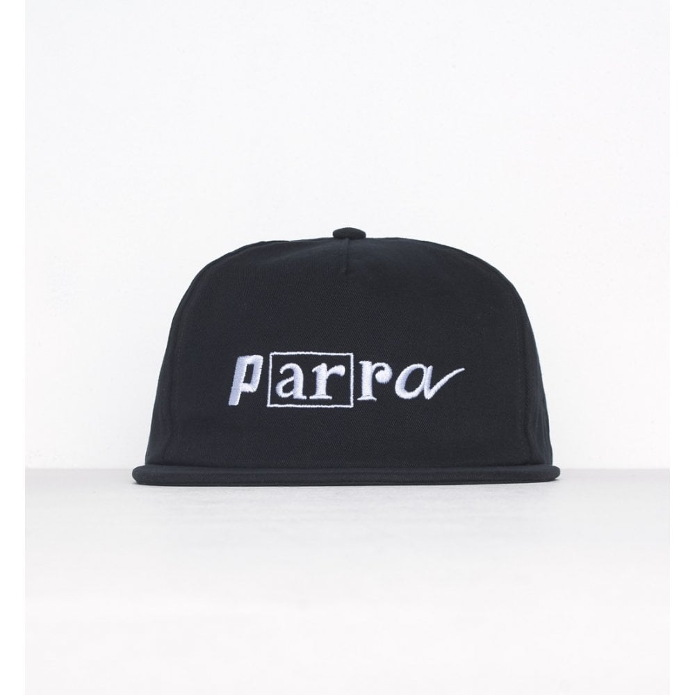 40fd4096c2f By Parra Script Box Logo 5 Panel Cap - Mens Accessories from Cooshti.com