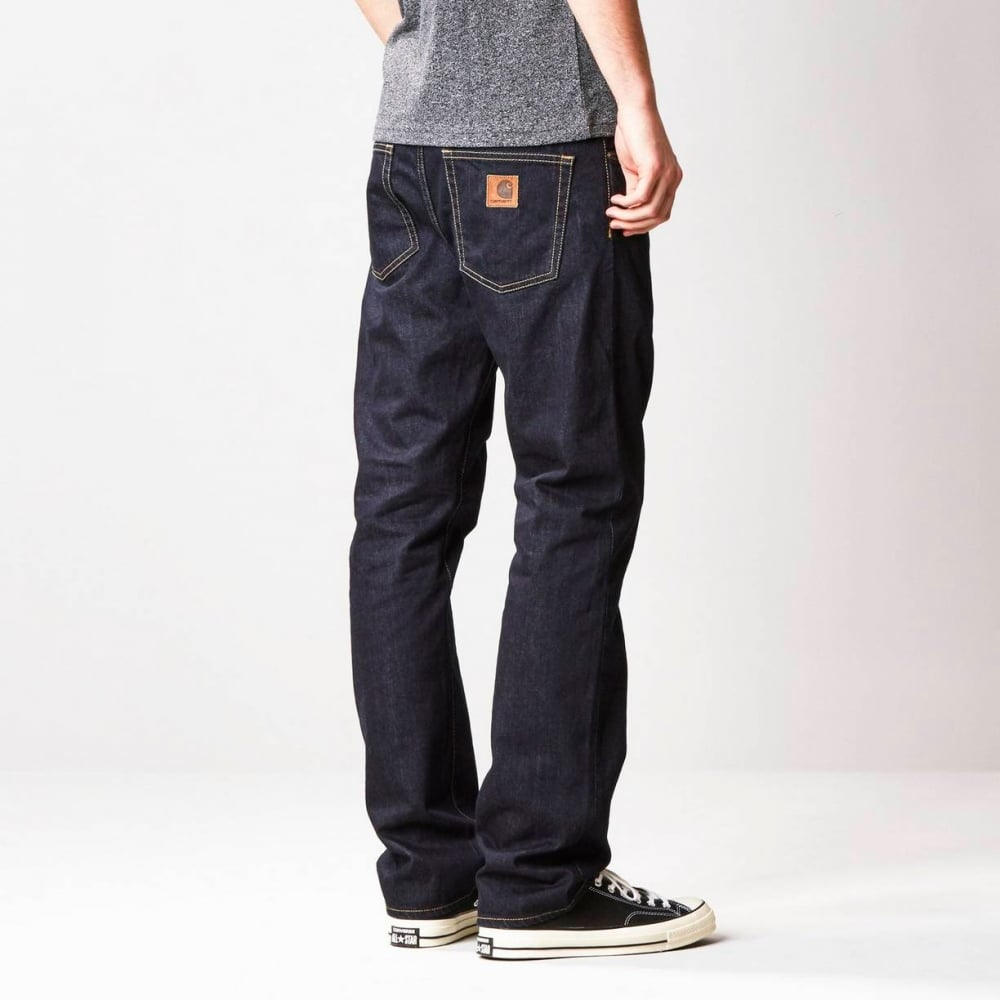 047d203abb Carhartt Wip Davies Pant 'Otero' Denim Blue Rinsed - Mens Jeans from ...