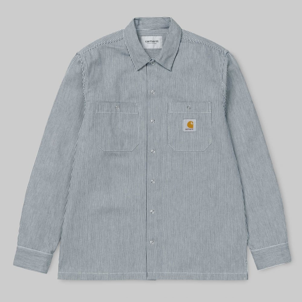 Carhartt Wip L S Baltimore Hickory Shirt Mens Clothing