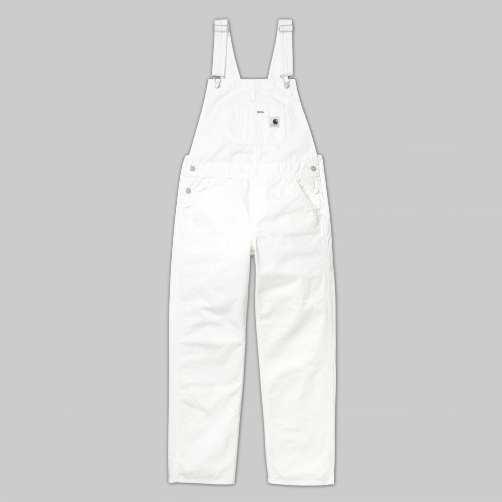 4f2a7a33f0889 Carhartt Wip Womens W' Bib Overall - Off White - Womens Clothing ...