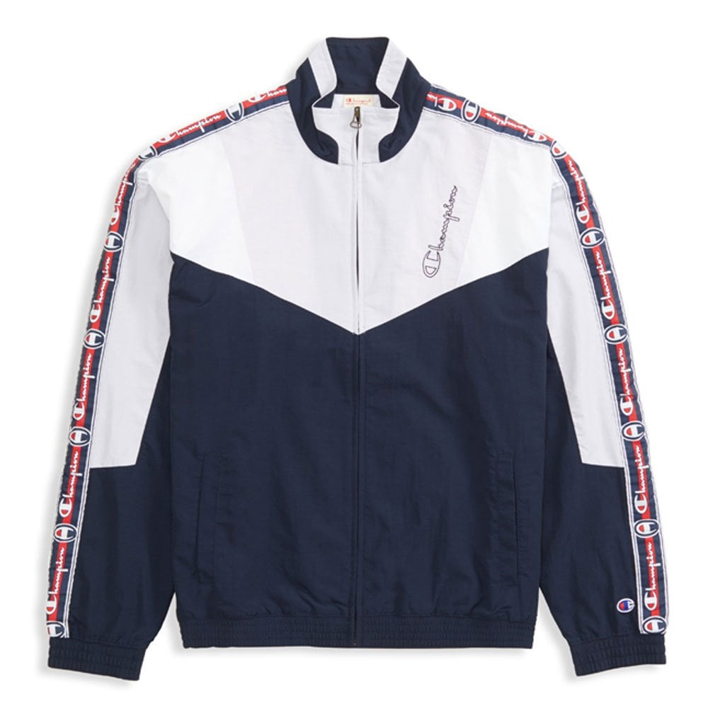 Champion Colour Block Logo Tape Track Jacket - Mens Clothing from ... 5f84a9069214
