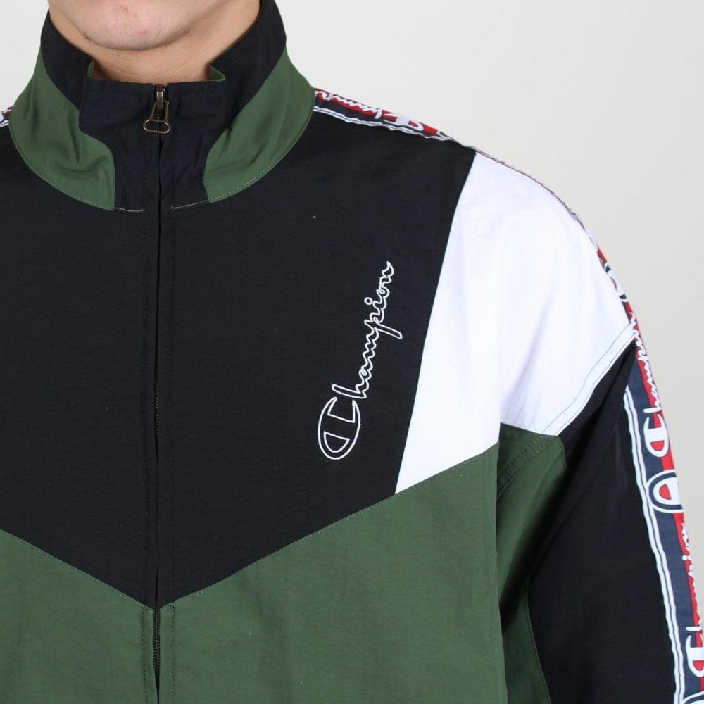 dca71239 Colour Block Logo Tape Track Jacket