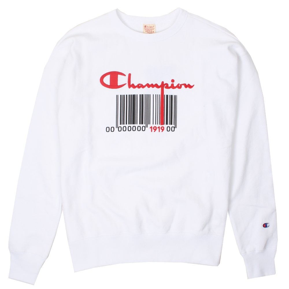 2ef5dec8 Champion Crewneck Sweatshirt - Barcode Design - Mens Clothing from ...