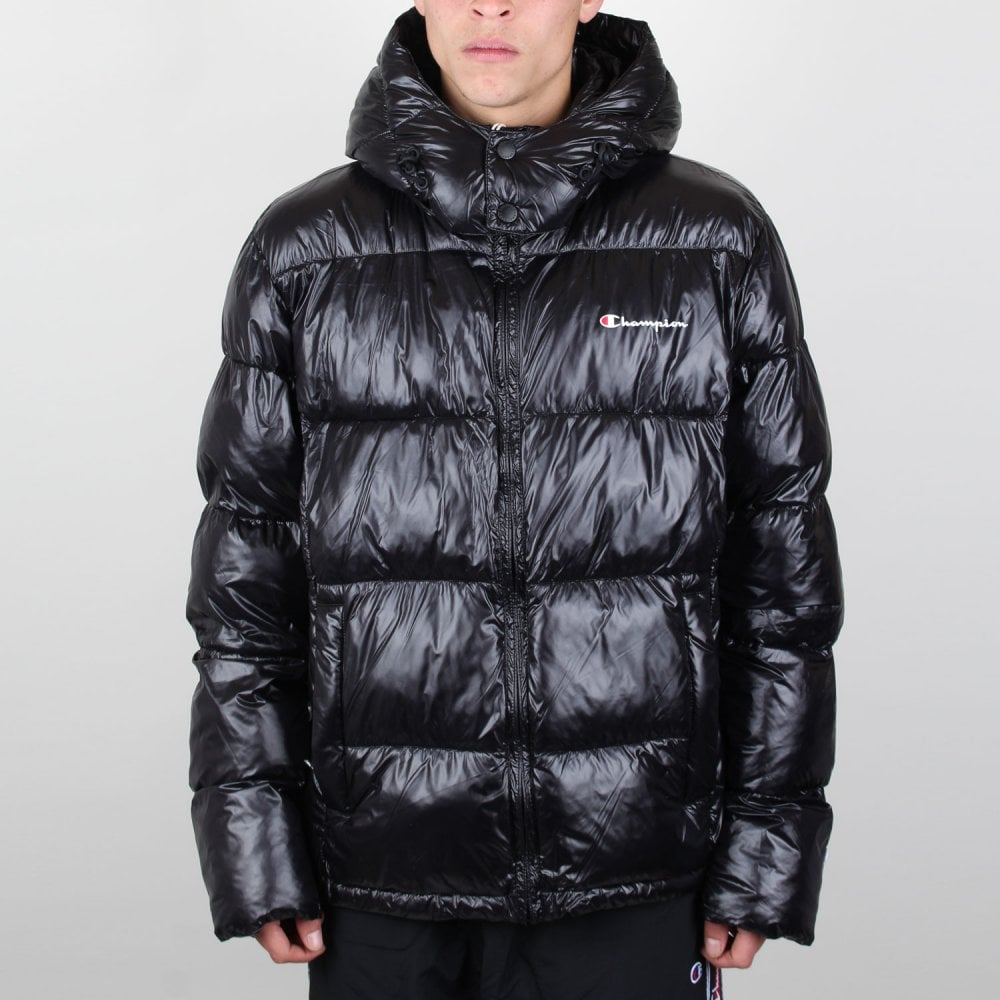 Champion Padded Zip Up Funnel Neck Hooded Jacket Mens