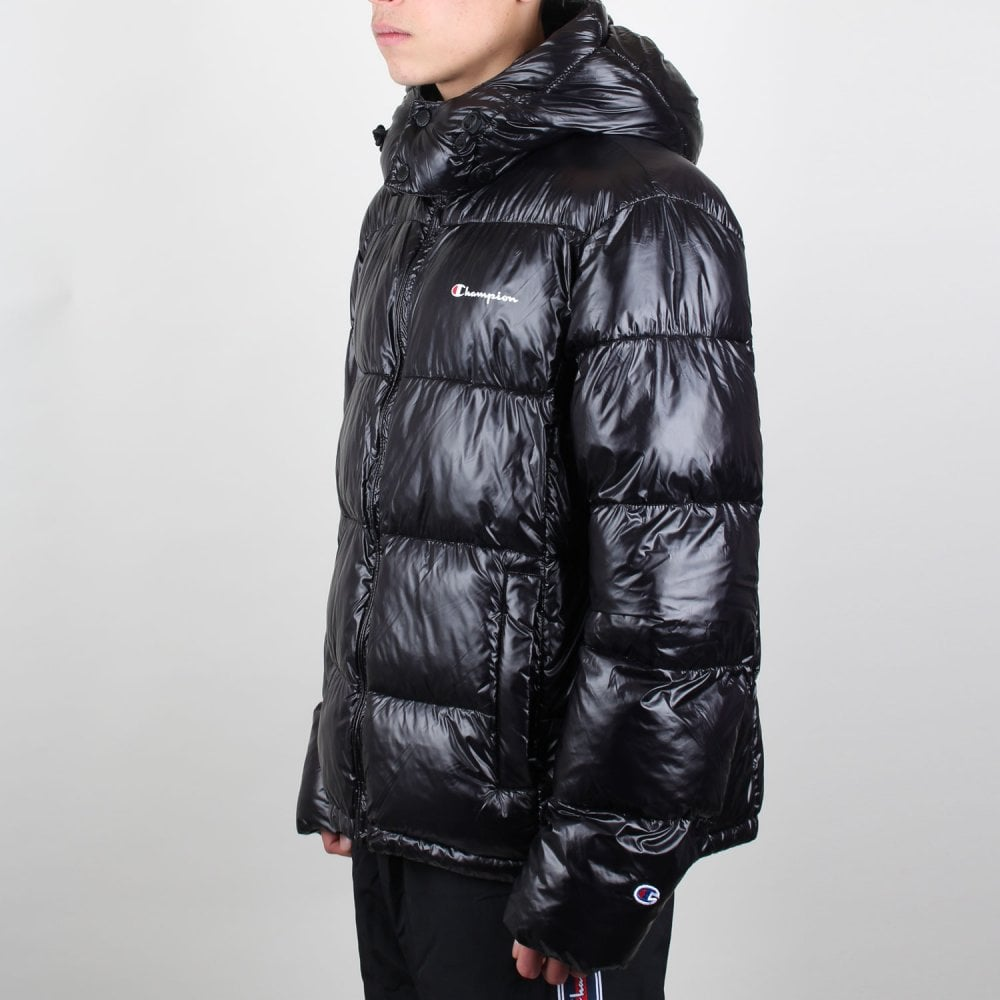 a5aa95b4 Padded Zip-up Funnel Neck Hooded Jacket