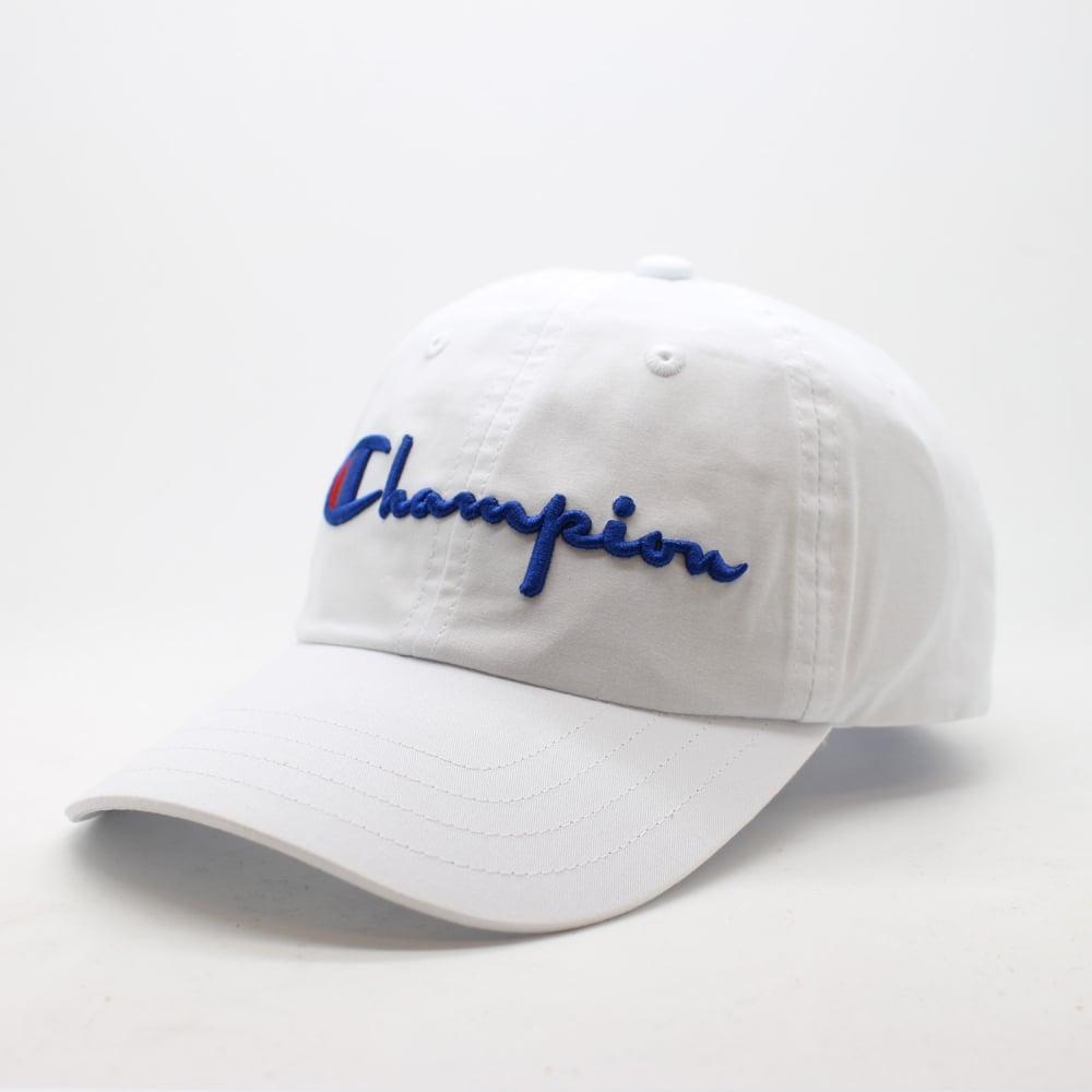 814b91baa6ee9 Champion Reverse Weave Baseball Cap Script Logo - Mens Accessories ...
