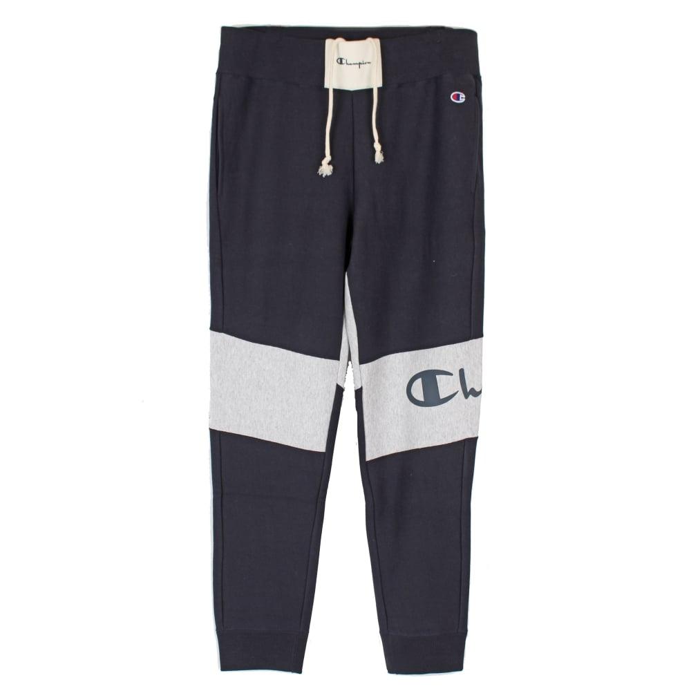 dc11d4779452 Champion Reverse Weave Colour Block Sweat Pants Rib Cuff - Mens ...