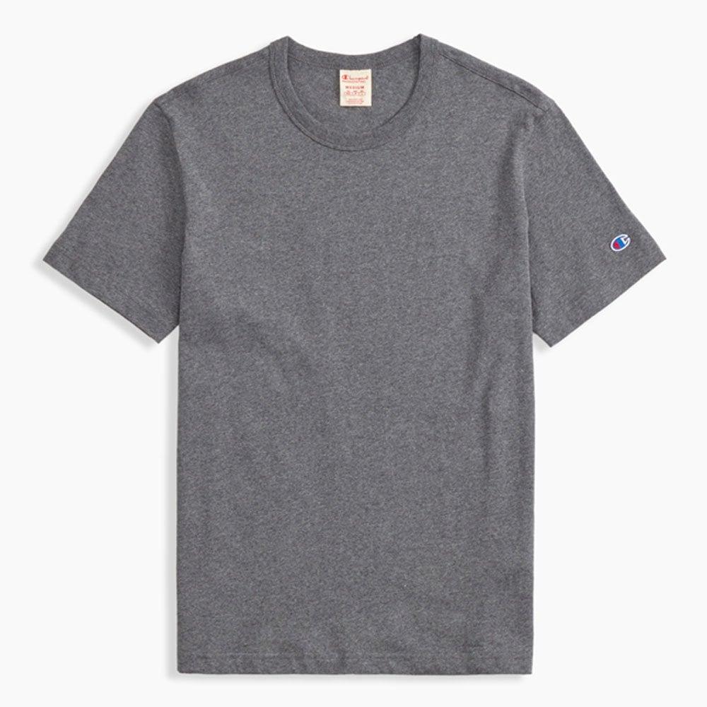 d7a57164 Champion Reverse Weave Crewneck T-shirt Small C Logo - Dark Grey ...