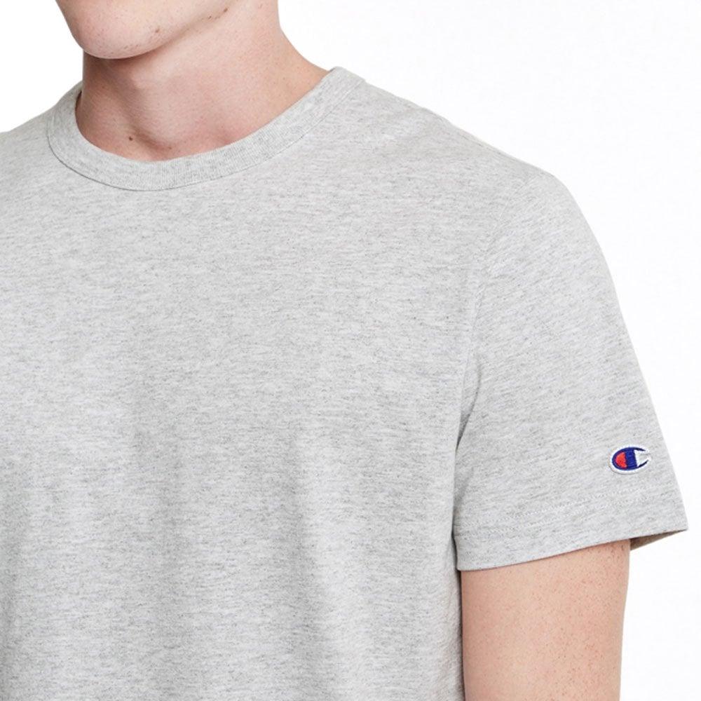 30f2c3b91 Champion Reverse Weave Crewneck T-shirt Small C Logo - Grey Marl ...