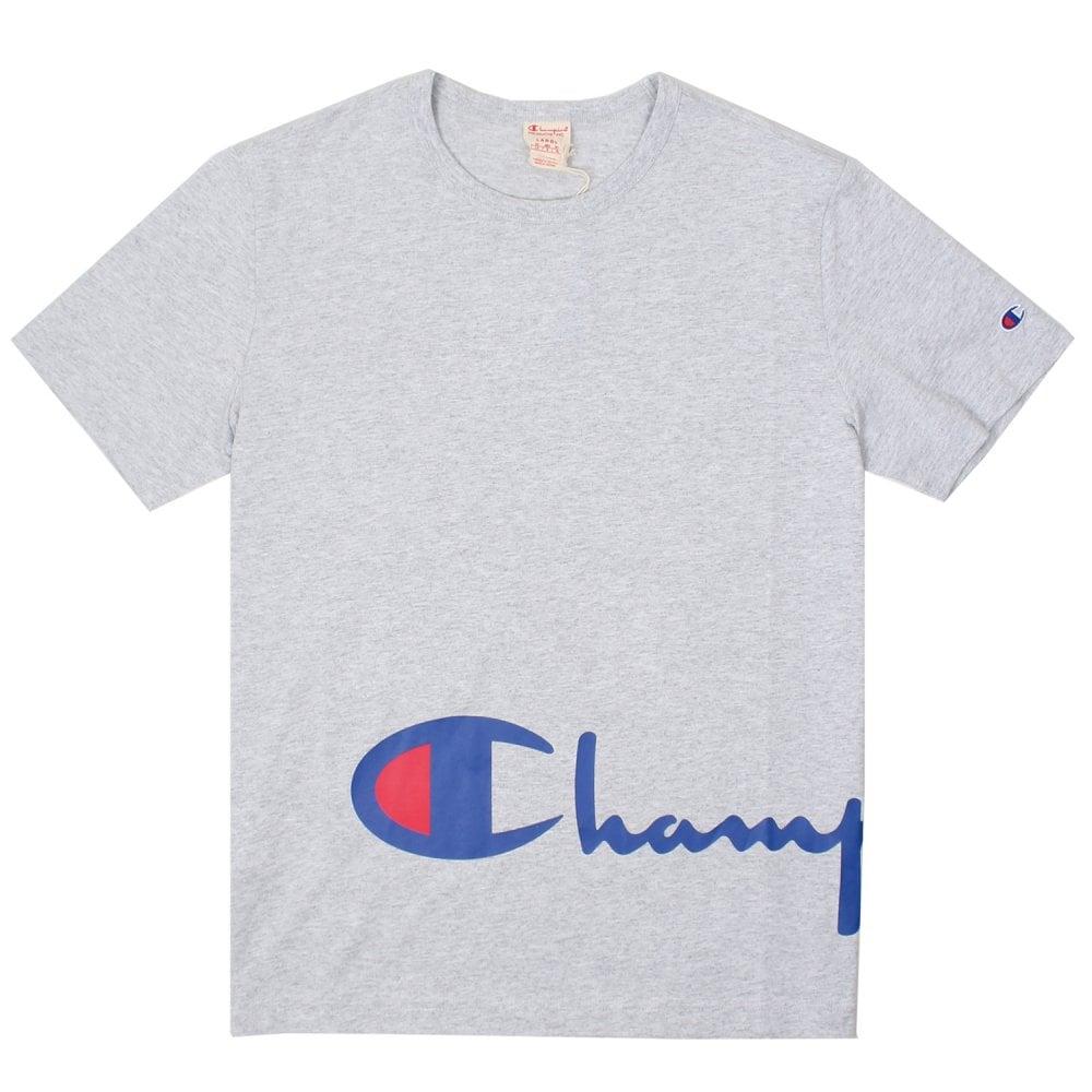 62316661 Champion Reverse Weave Crewneck T -Shirt - Wraparound Script Logo ...
