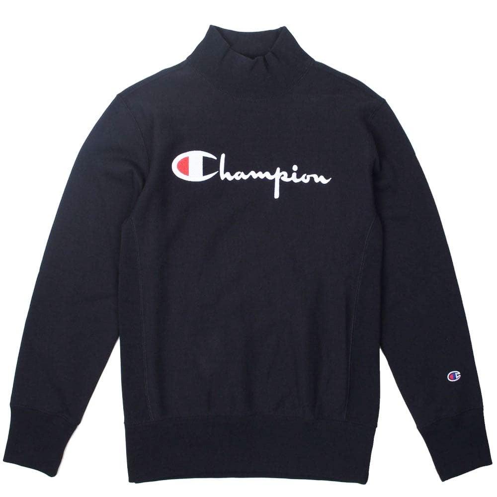 f664d0f0 Champion Reverse Weave High Neck Script Logo Sweatshirt - Mens ...