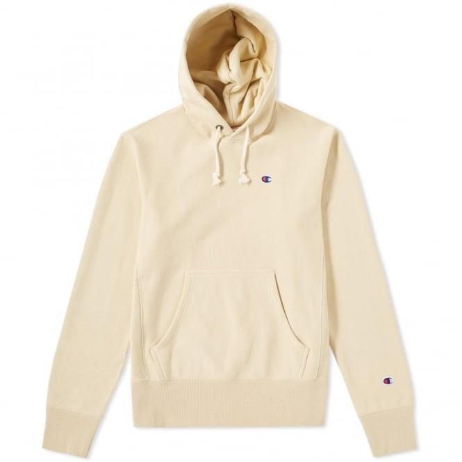 Champion Reverse Weave Hooded Sweatshirt Small C Logo
