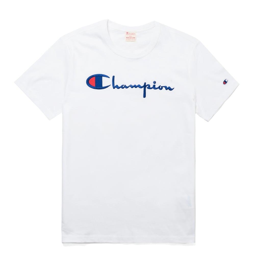 af30cefc Champion Reverse Weave Script Logo Crewneck T-shirt - Mens Clothing from  Cooshti.com