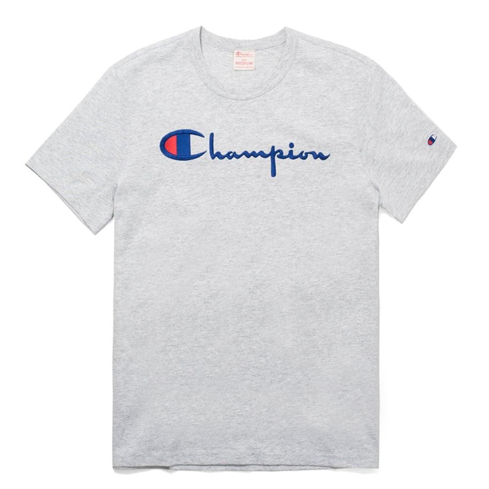 a9012fae07be Champion Reverse Weave Script Logo Crewneck T-shirt - Mens Clothing ...