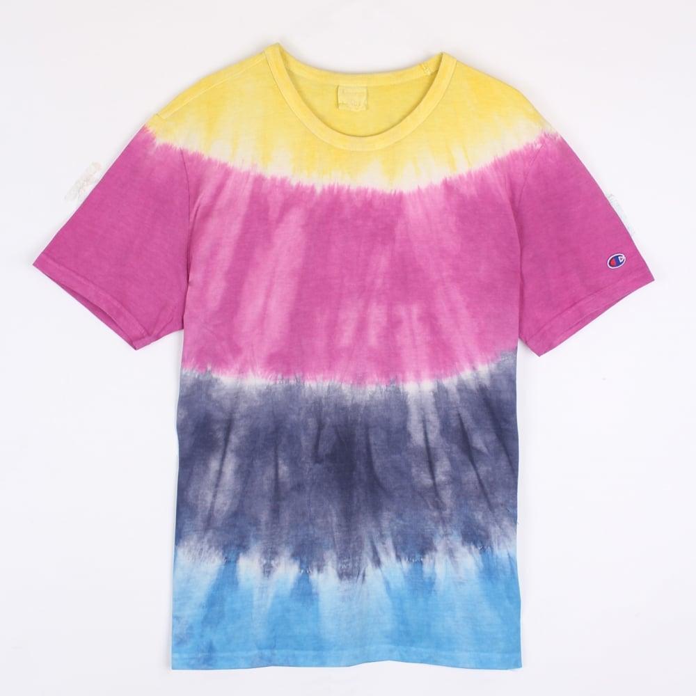 44655b566b63 Champion Reverse Weave Tie-Dye Crewneck T-shirt - Mens Clothing from  Cooshti.com