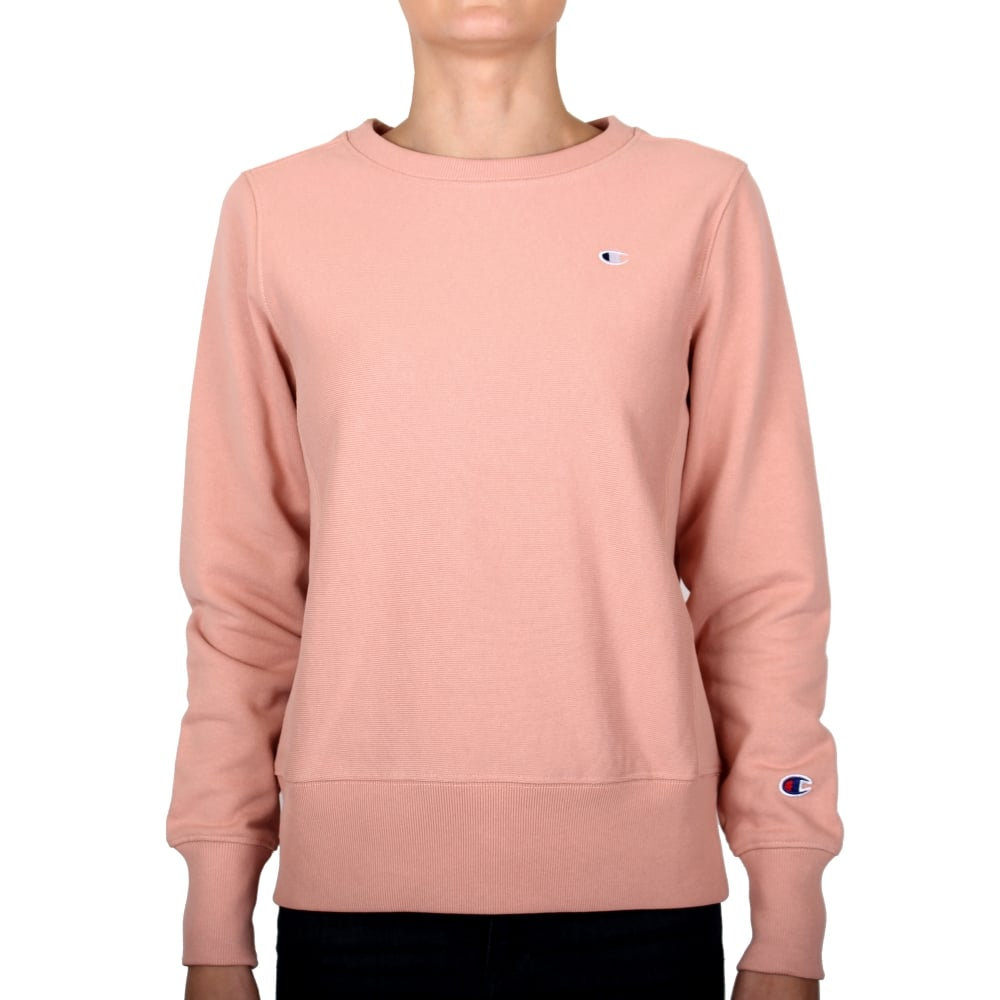 Champion Reverse Weave Womens Crewneck Sweat Small C Logo - Womens ... a8a0daad7