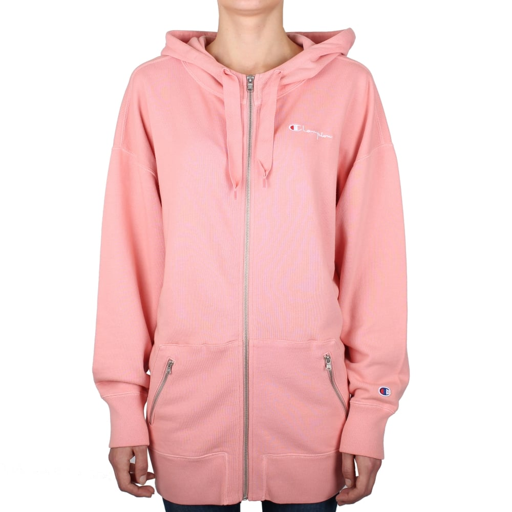 a96d6516 Champion Reverse Weave Womens Long Oversized Full Zip Hooded Sweat ...