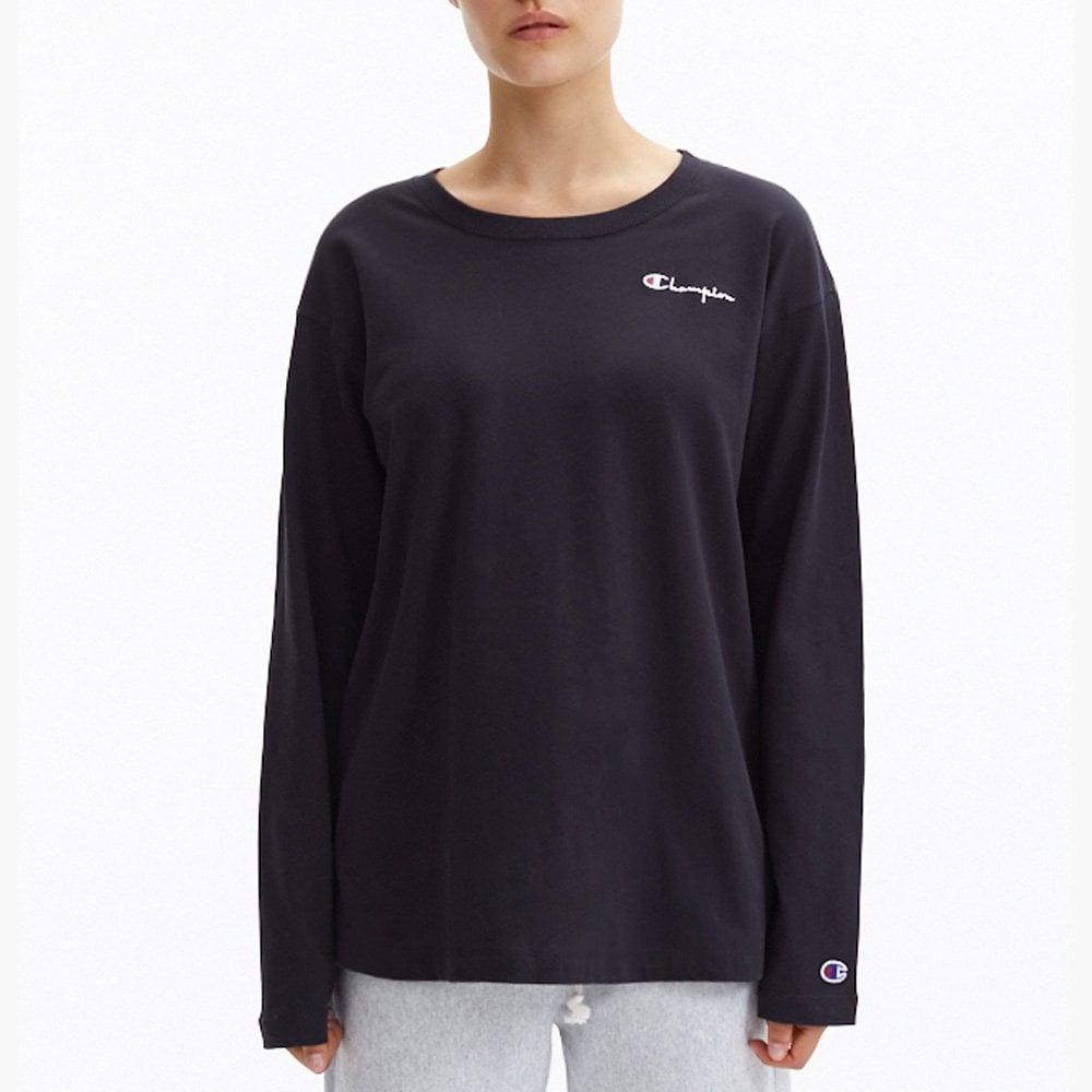 10979fdb7 Champion Women's Script Logo Long Sleeve Crew Neck T-Shirt - Womens ...