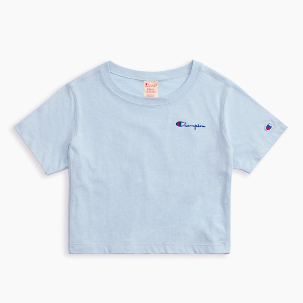 d8ce50bb6 Champion Women's Small Script Logo Cropped T-shirt - Womens Clothing ...