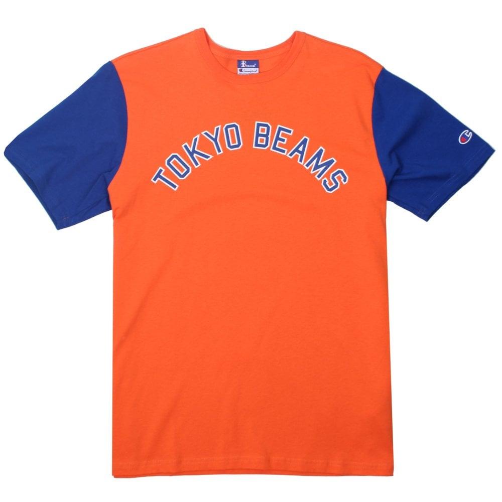 cd87eab6 Champion X Beams Crewneck Script T-shirt - Mens Clothing from ...