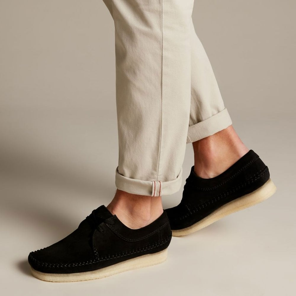 arriving bright in luster Discover Weaver Suede - Black