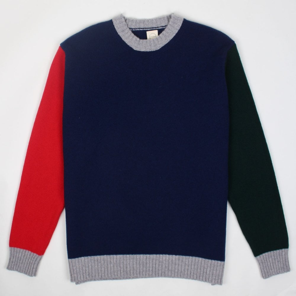 fec3367e513 Country Of Origin Men s Tricolour Lambswool Knit - Mens Clothing ...