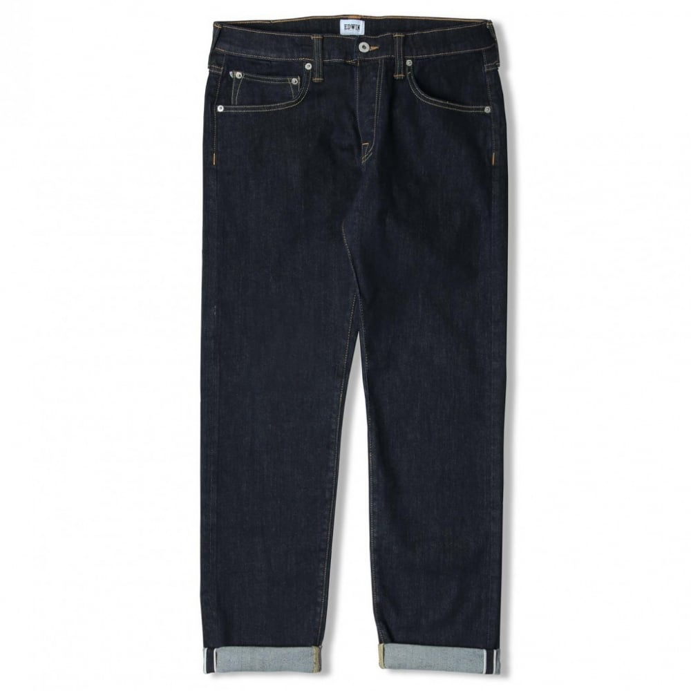 149f79e5 Edwin ED-55 Regular Tapered CS Red Listed Selvage Denim Rinsed 10.5 ...