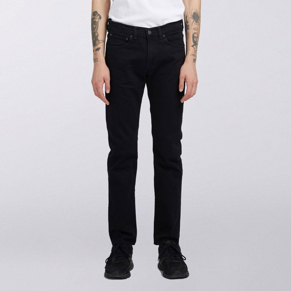 c313b678bab4 Edwin ED-80 Slim Tapered Jeans CS Power Black Denim - Rinsed