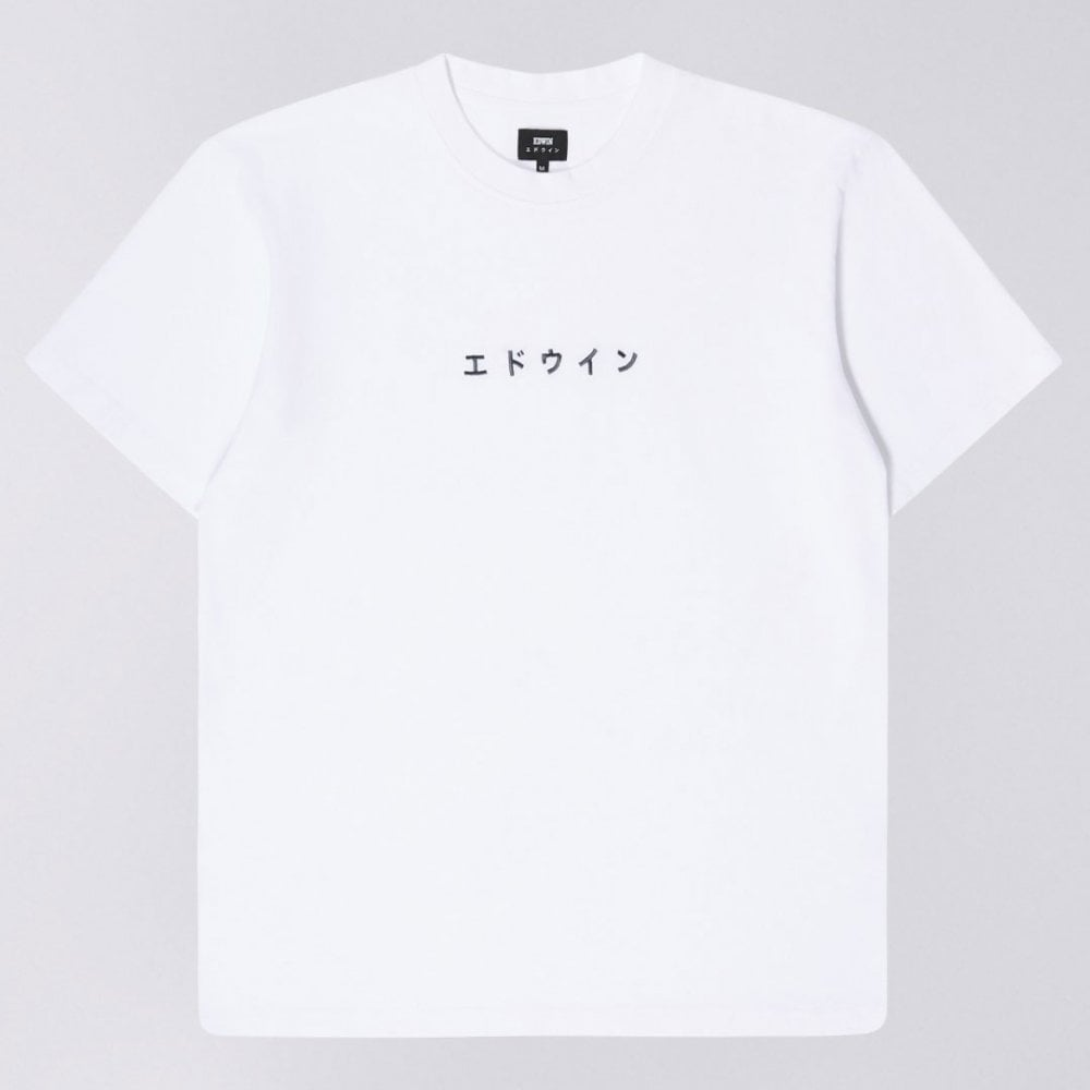 a32c2065 Edwin Katakana Embroidery T-shirt - White - Mens Clothing from ...