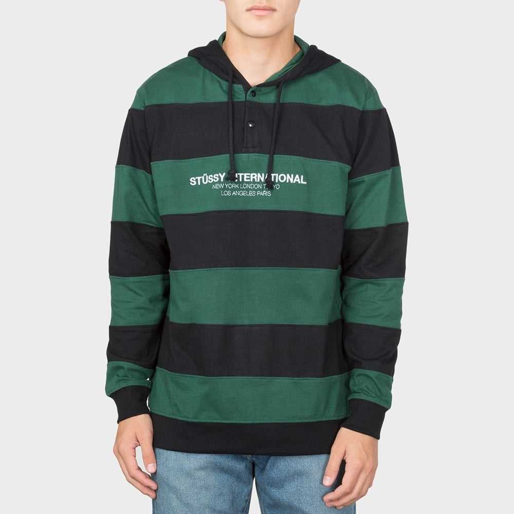 85d2208364 Stussy Hooded Stripe Rugby - Mens Clothing from Cooshti.com