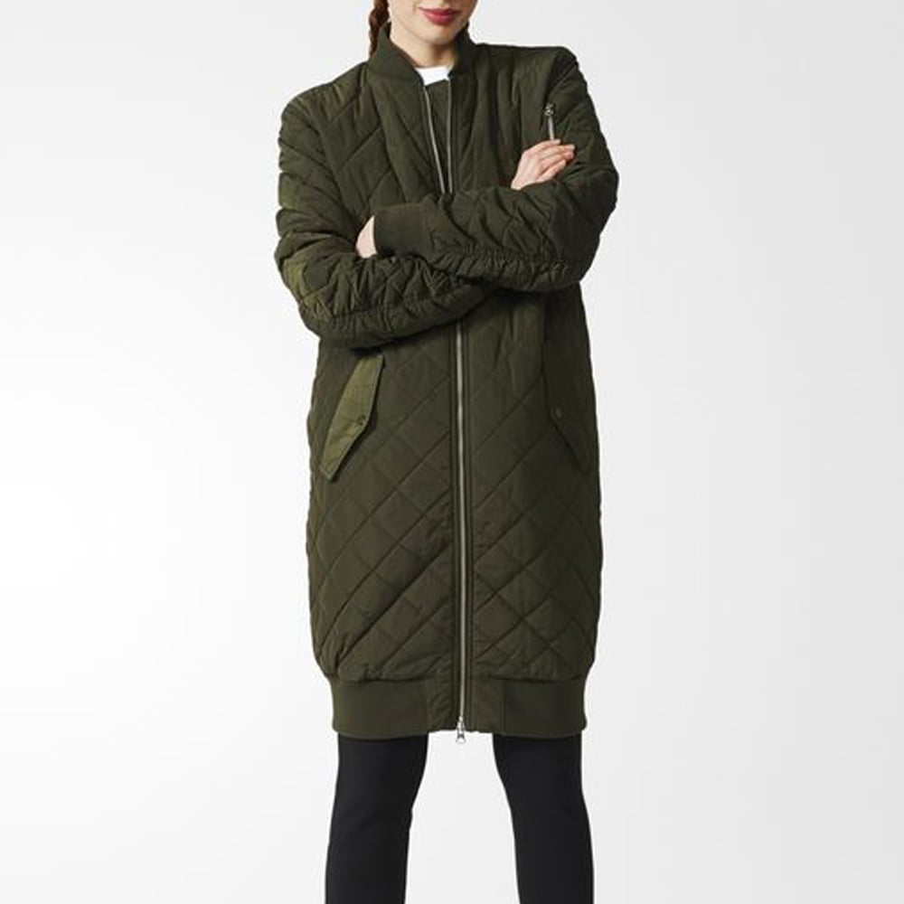 3fb9e3c68 Adidas Originals Womens Long Quilted Bomber - Womens Clothing from ...