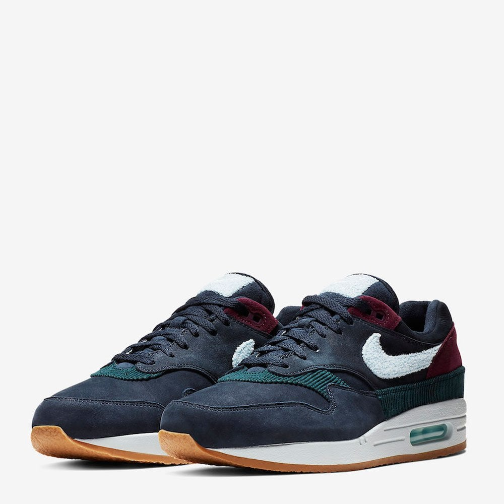 best cheap 6ae04 40aa6 Nike Air Max 1 - Dark Obsidian - Crepe Sole