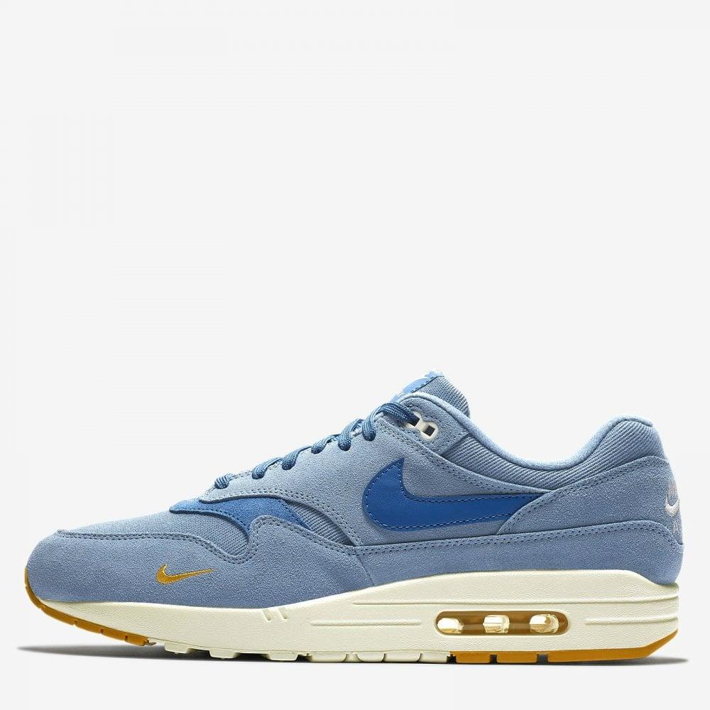 a6a8835ca9 Nike Air Max 1 Premium 'Mini Swoosh' - Blue - Mens Footwear from ...
