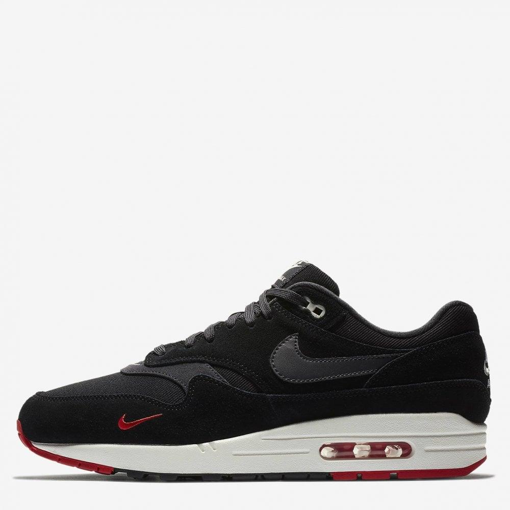 5ac4ea547c Nike Air Max 1 Premium 'Mini Swoosh' - 'Bred' - Mens Footwear from ...