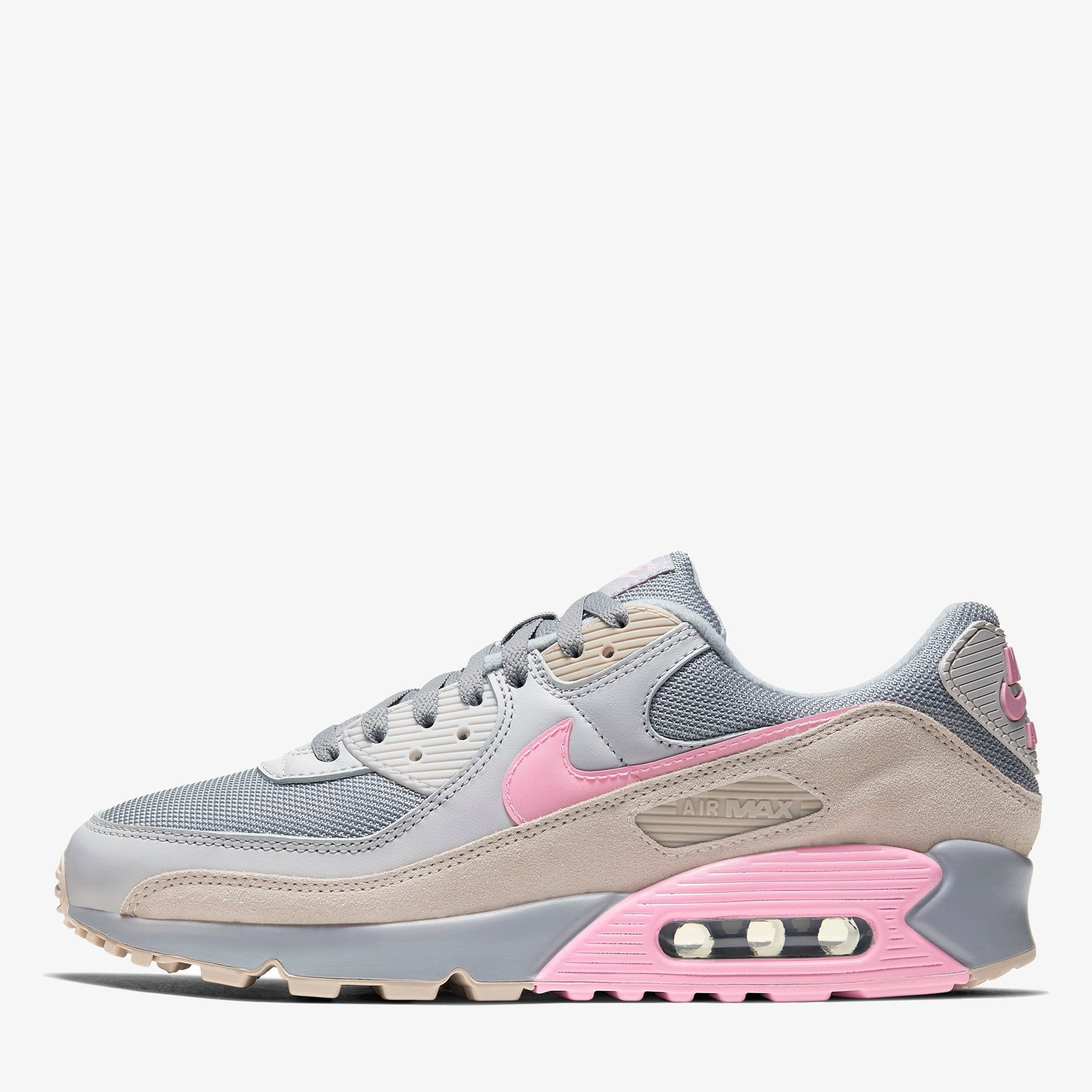 comestible Pantera suéter  Nike Air Max 90 - Vast Grey / Pink Wolf - Mens Footwear from Cooshti.com