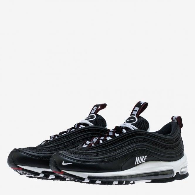 Nike Air Max 97 Premium Black White Varsity Red Mens