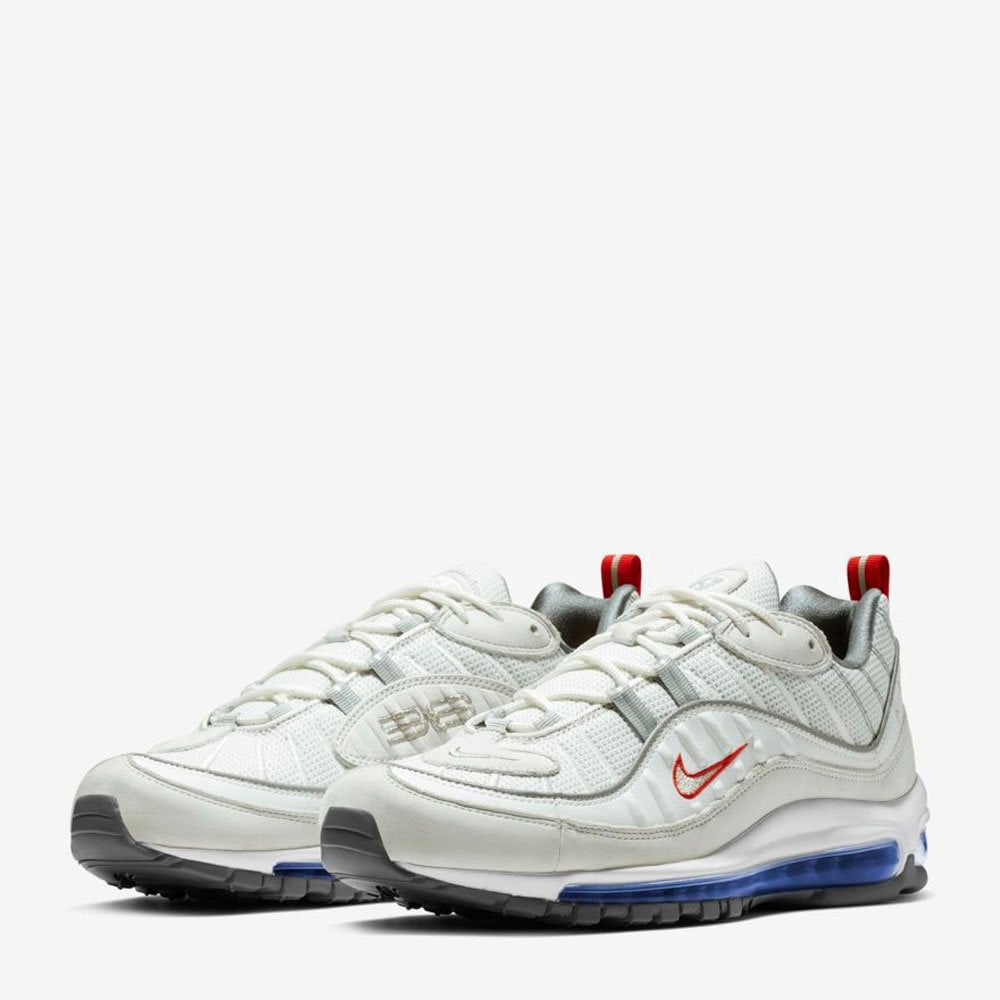 c179e09b80 Nike Air Max 98 - Summit White / Red / Blue - Mens Footwear from ...