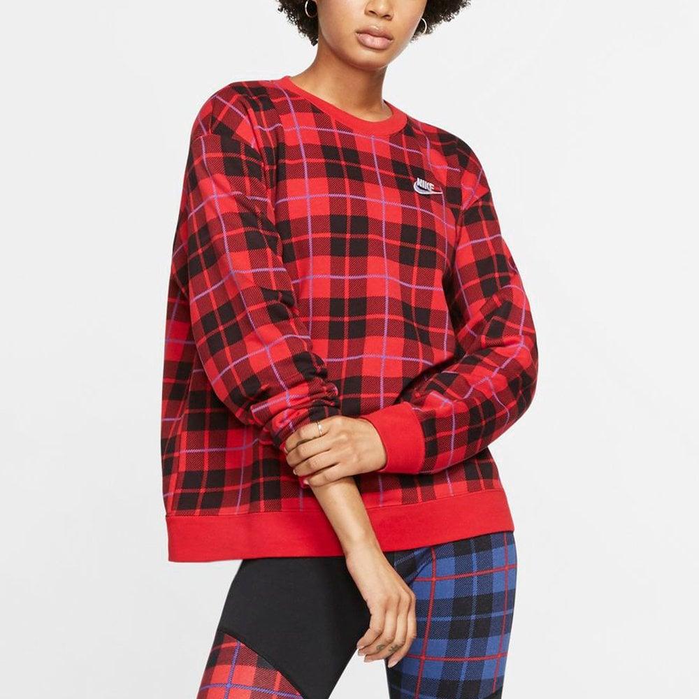 buy nike womens plaid sweatshirt